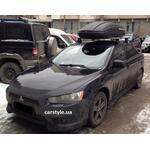 [Багажник Thule-754 Stream и бокс Terra Drive-440 (черный) на Mitsubishi Lancer] - [FU MI2-52]