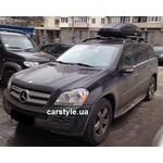 [Багажник Thule-775 Stream і бокс Terra Drive-480 (чорний) на Mercedes GL-450] - [FU MS3-3]