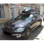 [Багажник Amos C-15 Wind Plus і бокс Terra Drive-480 (чорний глянець) на Mercedes S-Class] - [FU MS4-18]