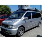 [Багажник CarStyle Rails SquareBar и бокс Terra Drive-480 (серый) на Mercedes Vito] - [FU MS2-10]