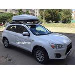 [Багажник Thule-753 WingBar і бокс Terra Drive-480 (білий) на Mitsubishi ASX] - [FU MI3-37]