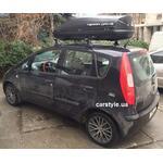 [Багажник Thule-750 SquareBar и бокс Terra Drive-440 (черный) на Mitsubishi Colt] - [FU MI4-1]