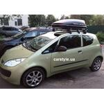 [Багажник Mont Blanc Stl и бокс Terra Drive-320 (черный) на Mitsubishi Colt] - [FU MI1]