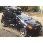 [Багажник Thule-754 Stream и бокс Terra Drive-440 (черный) на Mitsubishi Colt] - [FU MI3-56]