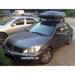 [Багажник Amos Dromader Aero Plus і бокс Terra Drive-420 (чорний) на Mitsubishi Lancer] - [FU MI2-27]