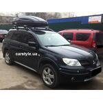 [Багажник CarStyle Straps Stream и бокс Terra Drive-480 (черный) на Mitsubishi Outlander] - [FU MI2-6]