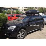 [Багажник Thule-775 SquareBar и бокс Terra Drive-440 (черный) на Mitsubishi Outlander] - [FU MI3-27]