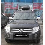 [Багажник CarStyle Rails Stream и бокс Terra Drive-480 (черный) на Mitsubishi Pajero] - [FU MI4-4]