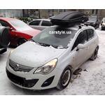 [Багажник Thule-753 Stream и бокс Terra Drive-480 (черный) на Opel Corsa] - [FU OP3-1]