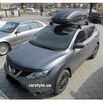 [Багажник Amos Dromader Wind Plus і бокс Terra Drive-440 (чорний) на Nissan Qashqai] - [FU NI4-11]