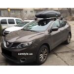 [Багажник Amos Dromader Wind Plus і бокс Terra Drive-480 (чорний) на Nissan Qashqai] - [FU NI4-3]