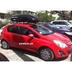 [Багажник Cruz X Airo и бокс Terra Drive-440 (черный) на Opel Corsa] - [FU OP2-7]