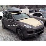 [Багажник Thule-754 WingBar і бокс Hapro Traxer 6.6 Grey на Porsche Cayenne] - [FU PO2-2]
