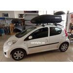 [Багажник Amos Dromader Wind і бокс Terra Drive-440 (чорний) на Peugeot 107] - [FU PE4-4]