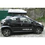 [Багажник Thule-754 Stream і бокс Terra Drive-420 (сірий) на Peugeot 107] - [FU PE2-1]