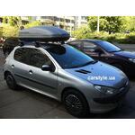 [Багажник Thule-754 Aero и бокс Terra Drive-440 (серый) на Peugeot 206] - [FU PE2-2]
