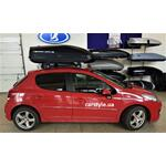 [Багажник Amos Beta Wind і бокс Terra Drive-440 (чорний) на Peugeot 207] - [FU PE4-10]