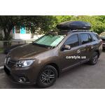 [Багажник Aguri Prestige і бокс Terra Drive-480 (чорний) на Renault Logan MCV] - [FU RE3-21]