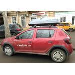 [Багажник Terra Aero і бокс Terra Drive-440 (сірий) на Renault Sandero Stepway] - [FU RE4-6]