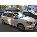 [Багажник Thule-753 Aero и бокс Terra Drive-480 (серый) на Seat Ibiza] - [FU SE4-7]