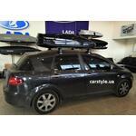 [Багажник Amos Dromader Wind Plus і бокс Terra Drive-480 (чорний глянець) на Seat Toledo] - [FU SE4-9]