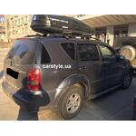 [Багажник CarStyle Rails Stream і бокс Terra Drive-480 (чорний) на SsangYong Rexton] - [FU SY3-3]