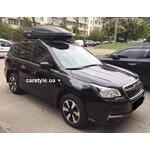 [Багажник Aguri Prestige Black и бокс Terra Drive-480 (черный) на Subaru Forester] - [FU SU3-9]