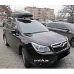 [Багажник Thule-757 Stream і бокс Terra Drive-480 (чорний) на Subaru Forester] - [FU SU4-2]
