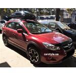 [Багажник Aguri Prestige и бокс Terra Drive-440 (черный глянец) на Subaru XV] - [FU SU4-9]