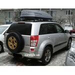 [Багажник Gev Geo і бокс Terra Drive-480 (сірий) на Suzuki Grand Vitara] - [FU SZ2-20]