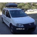 [Багажник Amos C-15 Stl и бокс Terra Drive-420 (серый) на VW Caddy] - [FU VW2-40]