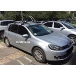 [Багажник Whispbar FlushBar и крепление Thule FreeRide 532+Thule ProRide 591 на VW Golf] - [FU VW3-46]