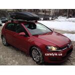 [Багажник Thule-754 Stream и бокс Terra Drive-480 (черный) на VW Golf] - [FU VW3-7]