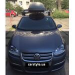 [Багажник Thule-754 Stream і бокс Terra Drive 440 (сірий) на VW Jetta] - [FU VW3-51]