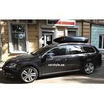 [Багажник Aguri Prestige Black і бокс Menabo Mania 460 Black на VW Passat B7 Variant] - [FU VW4-30]