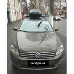[Багажник Terra R-Fix Aero Black і бокс Terra Drive-480 (чорний) на VW Passat B7 Variant] - [FU VW5-1]