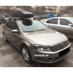 [Багажник Thule-754 Stream и бокс Thule Touring 600 Antracite на VW Passat B7] - [FU VW4-2]