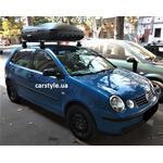 [Багажник Thule-754 Aero и бокс Terra Drive-420 (черный) на VW Polo] - [FU VW4-32]