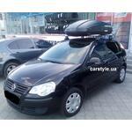 [Багажник Thule-754 Aero и бокс Terra Drive-440 (черный) на VW Polo] - [FU VW3-33]