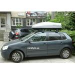 [Багажник Thule-754 SquareBar і бокс Terra Drive-440 (сірий) на VW Polo] - [FU VW2-21]