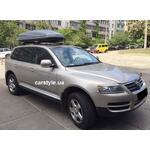 [Багажник Thule-753 Stream і бокс Terra Drive-480 (сірий) на VW Touareg] - [FU VW3-29]
