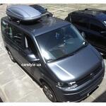 [Багажник Thule-751 WingBar і бокс Terra Drive-480 (сірий) на VW Transporter] - [FU VW2-24]
