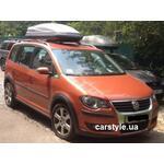 [Багажник Aguri Prestige і бокс Terra Drive-480 (сірий) на VW Touran] - [FU VW1-14]