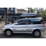 [Багажник Crux X Stl и бокс Terra Drive-440 (серый глянец) на Honda HR-V] - [FU HO5-8]