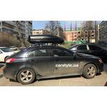 [Багажник Amos Dromader Aero Black Plus и бокс Terra Drive-440 (черный) на Mitsubishi Lancer X] - [FU MI5-6]
