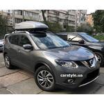 [Багажник Aguri Prestige и бокс Terra Drive-480 (серый глянец) на Nissan Rogue] - [FU NI5-6]