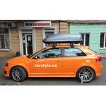 [Багажник Thule-754 WingBar Evo і бокс Terra Drive-440 (сірий) на Audi S3] - [FU AU5-6]