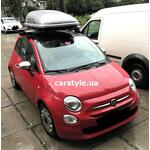 [Багажник Thule-754 Stream+Thule 774 і бокс Terra Drive-320 (сірий глянець) на Fiat 500] - [FU FI5-4]