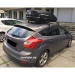 [Багажник Amos Koala Stl и бокс Terra Drive-440 (черный) на Ford Focus] - [FU FO5-12]
