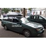 [Багажник Terra R-Fix Aero і бокс Terra Drive-480 (сірий) на Nissan Primera] - [FU NI5-14]